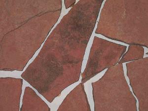 Песчаник обожженный, красный