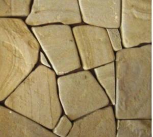 Песчаник желто-коричневый галтованый