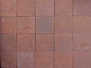 Плитка из обожженного, красного песчаника