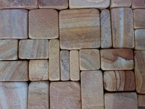 плитка галтованная из желто-коричневого песчаника