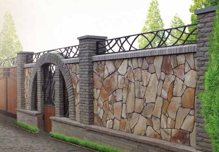 Модульные заборы из камня