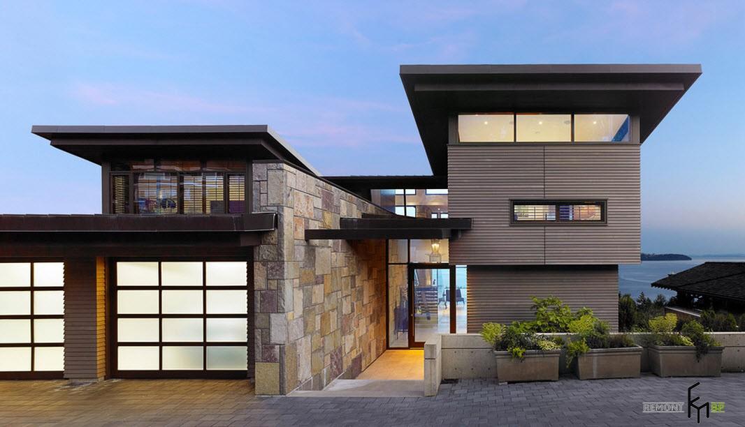 Дизайн домов фасада